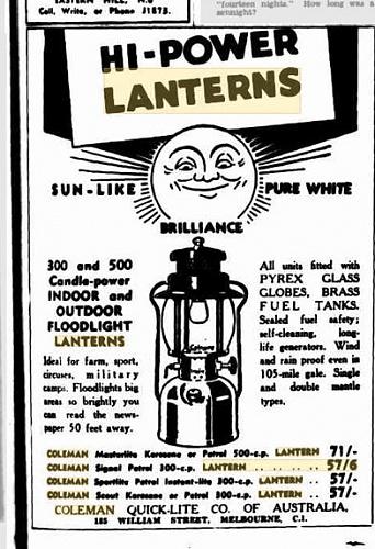 Pressure lantern - MLU FORUM