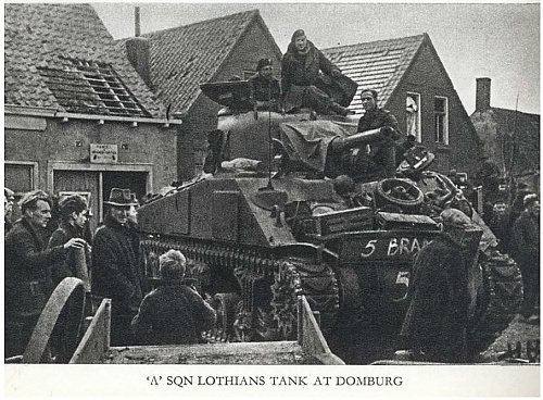 Click image for larger version  Name:A Sqn Lothians tank at Domburg.JPG Views:1 Size:152.1 KB ID:97880