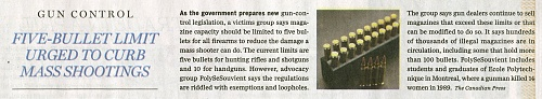 Click image for larger version  Name:6 June, 2020 - Five-Bullet Limit Urged to Curb Mass Shootings - Ottawa Citizen.jpg Views:21 Size:253.7 KB ID:114494